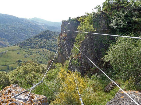 Via ferrata andaluzia